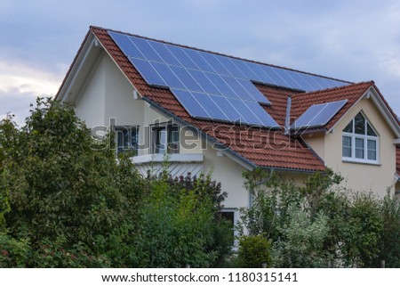 Modern House Facades And Rooftops In South Germany Bavaria Countryside Village