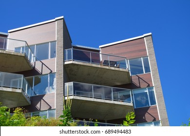 modern house glass balcony apartment facade architecture