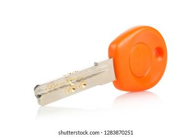 modern house key isolated on white background