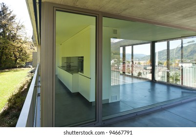 modern house, view from balcony
