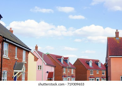 Modern houses in Bury St Edmunds, UK