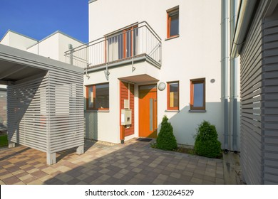 Modern houses district. Exteriors.