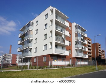 Modern housing estate - Architecture of the city of Lodz, Poland