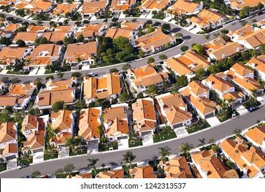 Modern housing estate seen from above