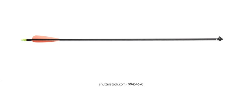 A modern hunting arrow isolated on white background