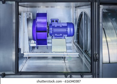 modern industrial air purification systems allow you to create comfortable working conditions in the production/the motor and turbine in a modern industrial air purification systems