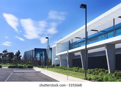 Modern industrial building.