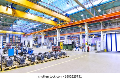 modern industrial factory for mechanical engineering - equipment and machines