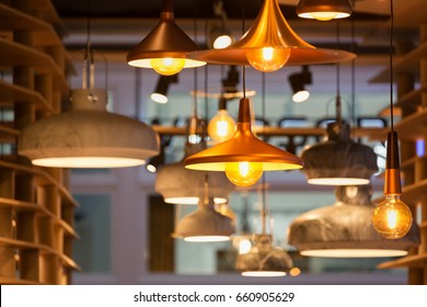 Modern and industrial style lamps decorated in a modern style reception area.