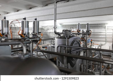 Modern industry equipment at factory manufacture background