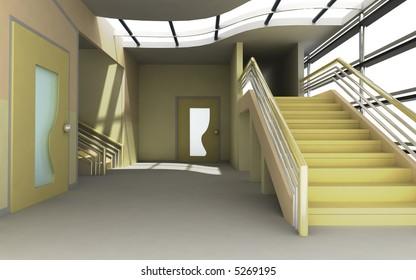 Modern Interior 3d render