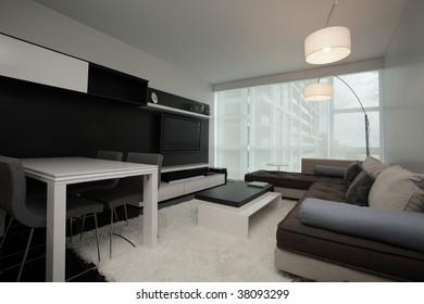 Modern interior apartment.   Furniture provided by www.lignerosetmiami.com