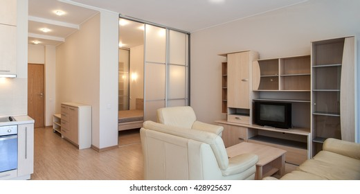 Modern interior of the apartment. Studio.