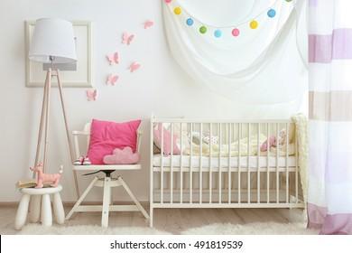 Modern interior of baby room