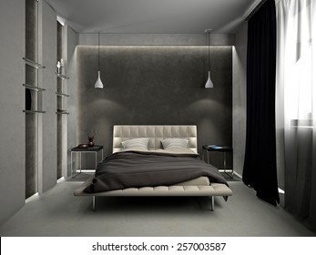 Modern Interior Living Room 3d Rendering Stock Illustration ...