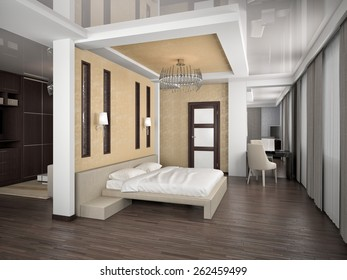 Bedroom Interior 3d Max Render Classic Stock Illustration 1015543333 ...