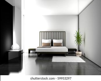 Modern Interior Living Room 3d Stock Illustration 61231120 ...