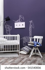 Modern interior of child room