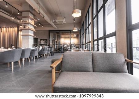 Modern Interieur Warm : Modern interior coffee shop decorate wooden stockfoto jetzt