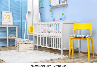Modern interior design of baby room