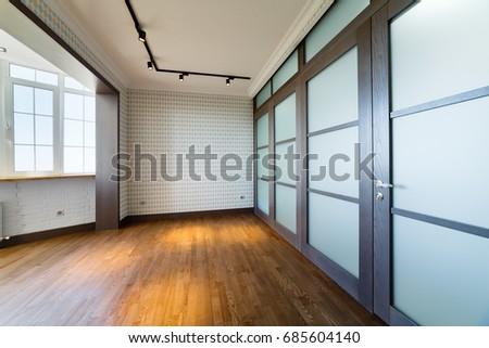 Modern interior design empty bedroom stock photo edit now