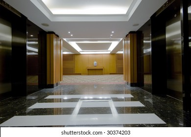 modern interior design of hotel hall photo