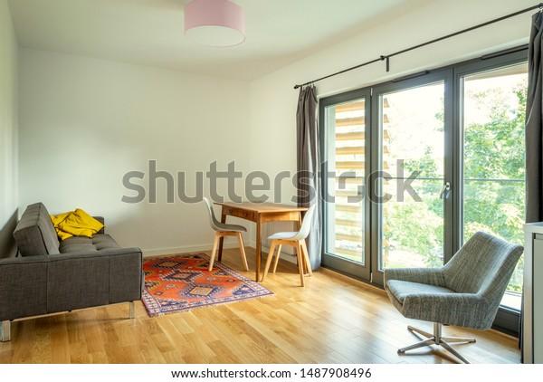 Modern Interior Design Living Room Small Stock Photo (Edit Now ...