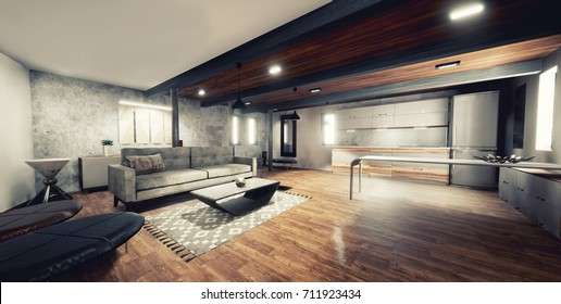 Empty Interior Modern Design Office Stock Photo (Royalty Free ...