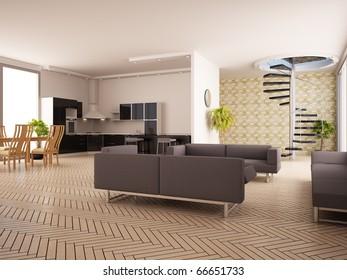 Modern Interior Drawing Room Stock Illustration 56265751 - Shutterstock