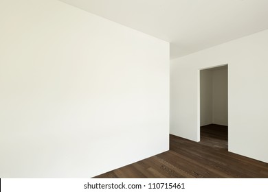 modern interior, empty apartment, wall white