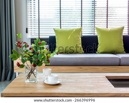 Modern Interior Living Room Flower Vase Stock Photo Edit Now