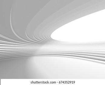 Modern Interior Room Stripe Pattern Wall Background. 3d Render Illustration