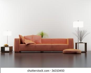modern interior setting