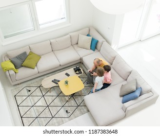 Modern interior of smart house