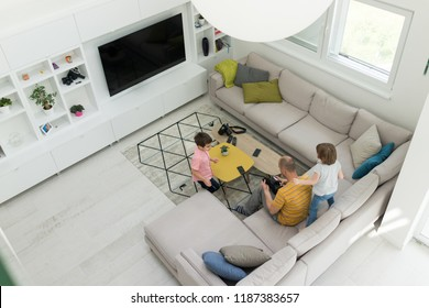 Modern interior of smart house