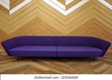 modern interior sofa midcentury purple