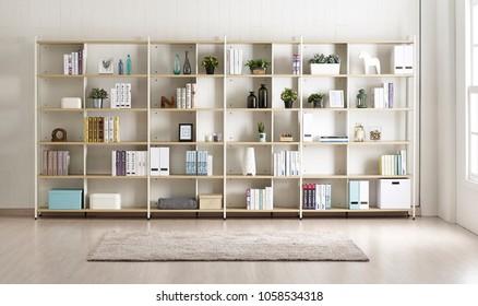Modern interior study room