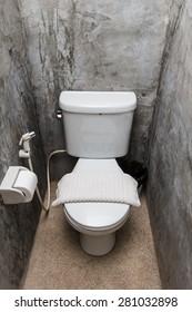 Modern interior of toilet.