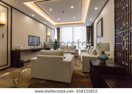 Modern interior d design concep hotel suite stockfoto jetzt