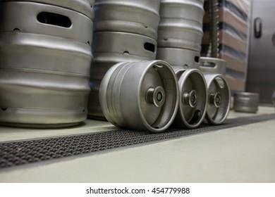 Modern keg at bewery