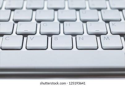 Modern keyboard of computer