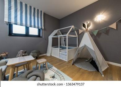 Modern kids room interior
