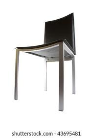 modern kitchen black chair isolated on white background