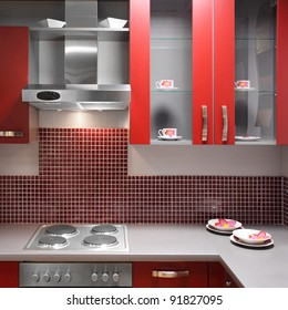 Red Kitchen Tiles Images, Stock Photos & Vectors | Shutterstock