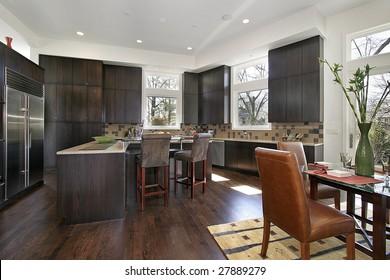 Dark Wood Kitchen Cabinets Images Stock Photos Vectors Shutterstock