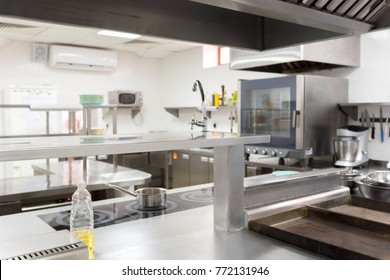 Modern kitchen equipment in a restaurant