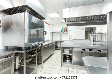 Modern kitchen equipment in a restaurant