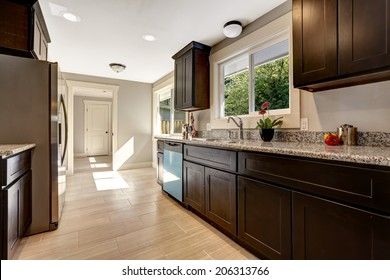 Brown Kitchen Cabinets High Res Stock Images Shutterstock