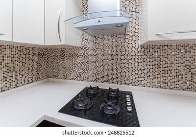 modern kitchen interior detail