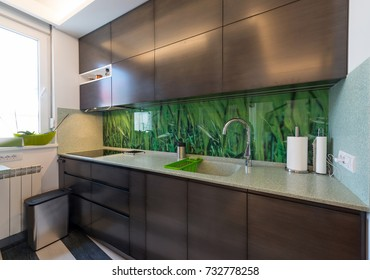 Modern kitchen interior with elements